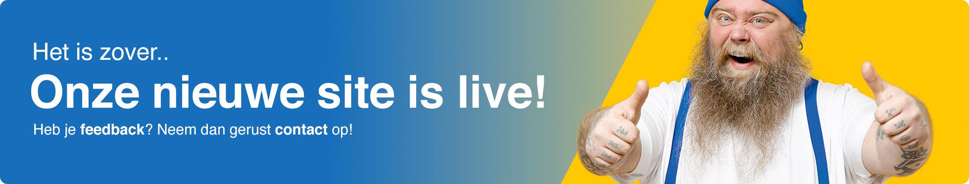 Nieuwe site is live