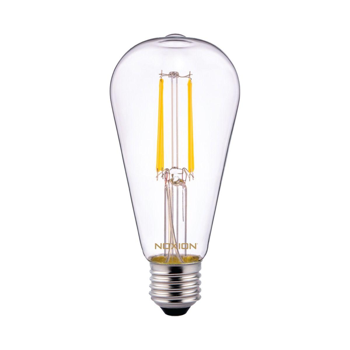 Noxion Lucent Klassiek LED Filament ST64 E27 6.5W 827 clear  Zeer Warm Wit - Vervangt 60W