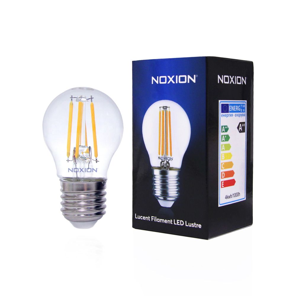 Noxion Lucent LED Filament Glans 4.5W 827 P45 E27 Helder   Dimbaar - Zeer Warm Wit - Vervangt 40W